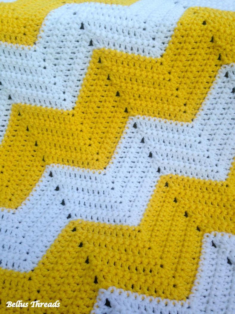 Stitch Easy Crochet Afghan Free Pattern Bellus Threads