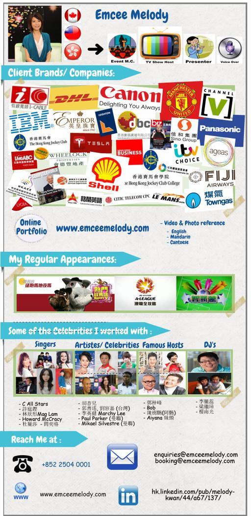 About M C Melody Hong Kong Professional Mc Tv Show